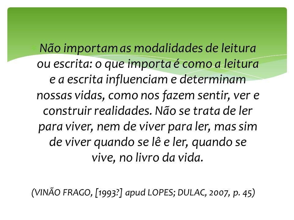 (VINÃO FRAGO, [1993 ] apud LOPES; DULAC, 2007, p. 45)